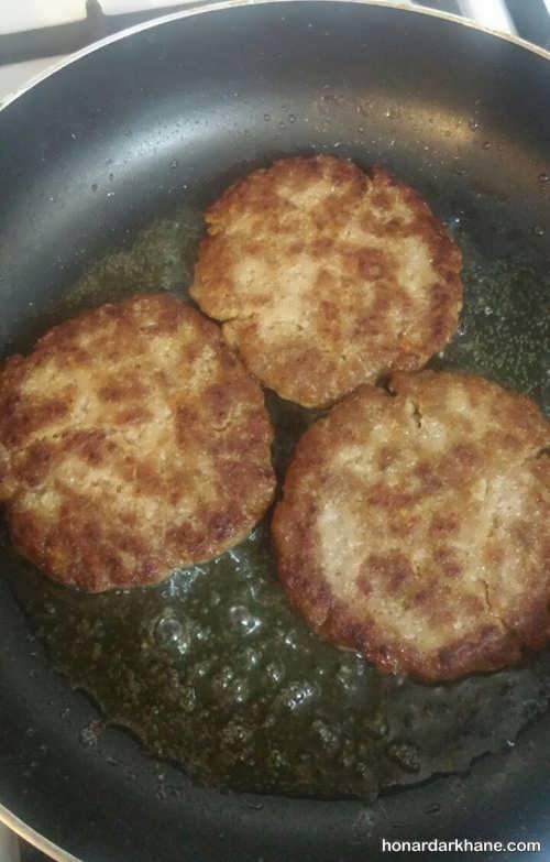 طرز پختن همبرگر