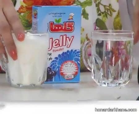 آموزش تهیه ژله با شیر