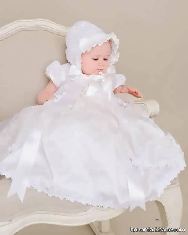 مدل لباس عروس نوزادی جدید