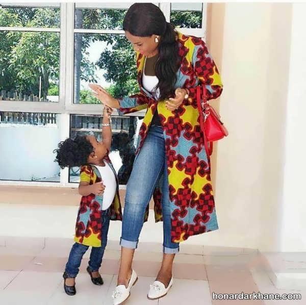 ست لباس پوشیده مادر و دختر