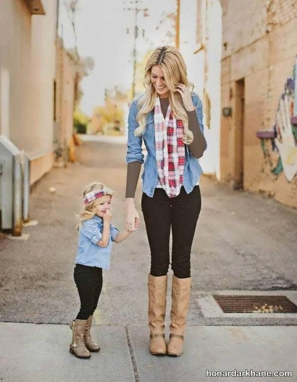 مدل بلوز و شلوار ست مادر و دختر