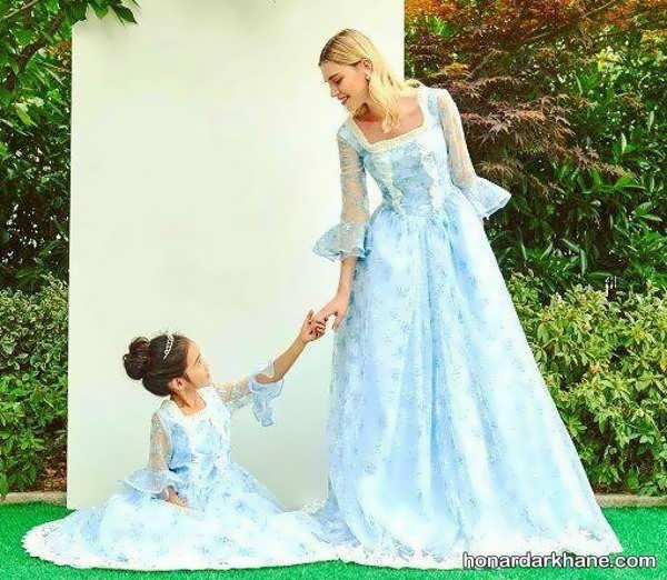 پیراهن مادر و دختر ست مجلسی