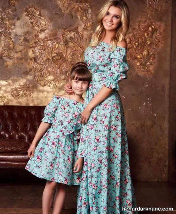 عکس لباس ست دختر و مادر