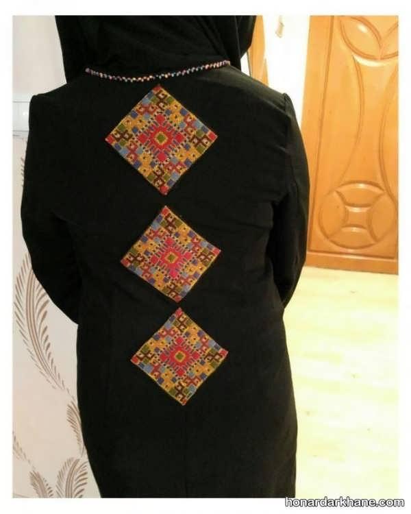 سوزن دوزی بلوچی روی لباس