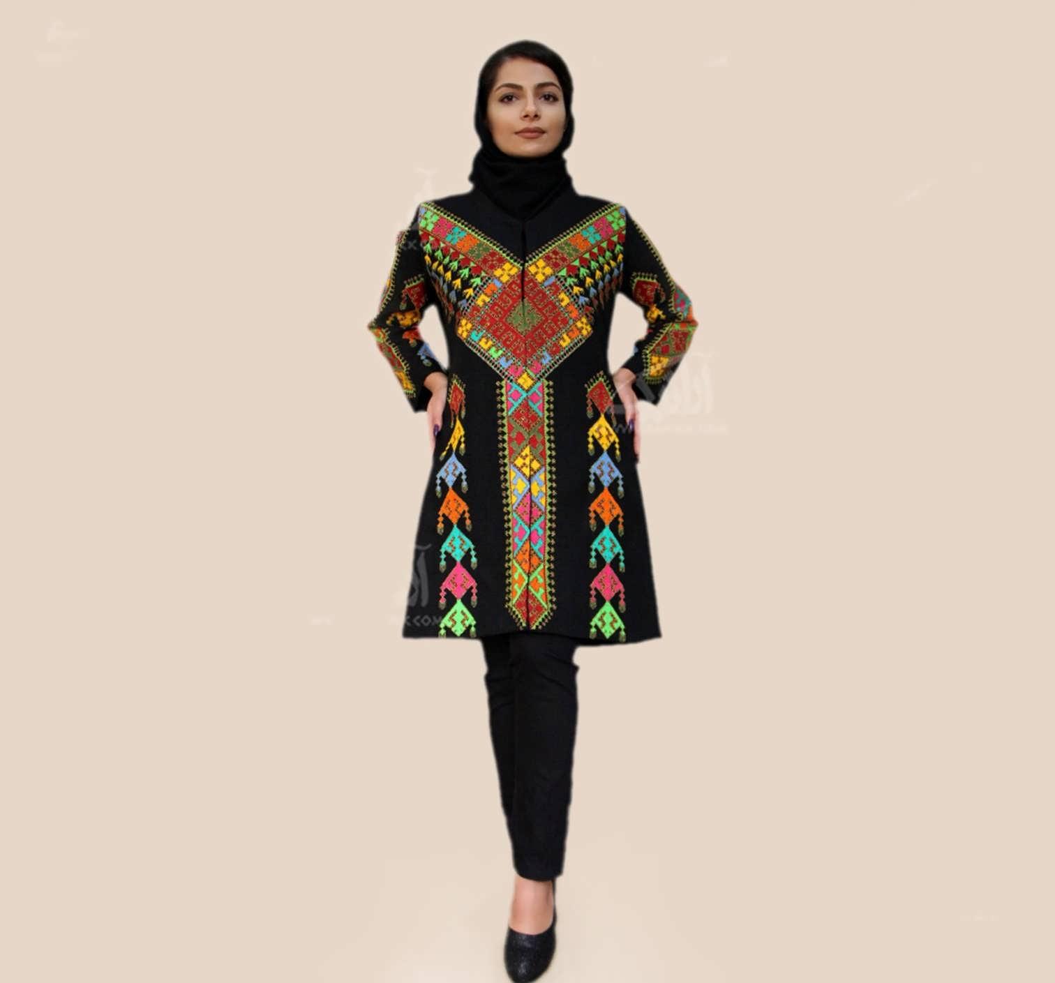 پته دوزی روی مانتو سوزن دوزی روی لباس با جدیدترین طرح ها و مدل ها