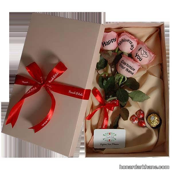 تزیین جعبه گل رز