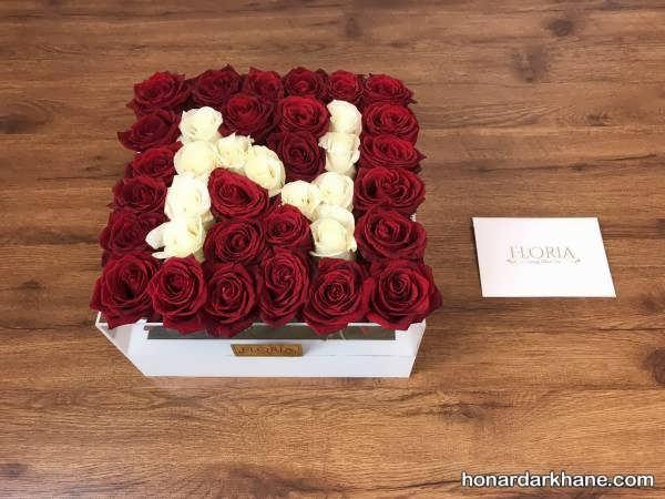 تزیین زیبای باکس گل رز