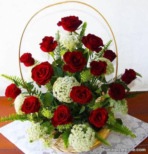 تزیین گل رز شیک و زیبا