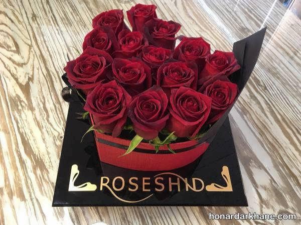 تزیینات گل رز زیبا