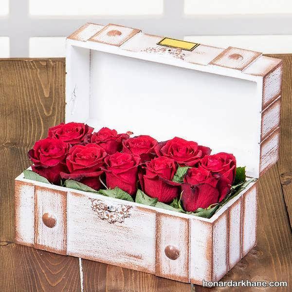 تزیین باکس گل رز