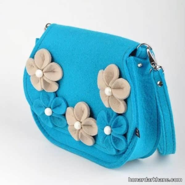تزیین زیبای کیف نمدی