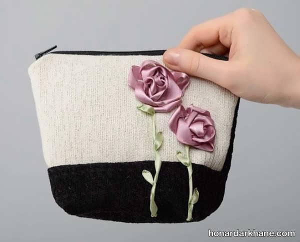 تزیین کیف دخترانه با گل