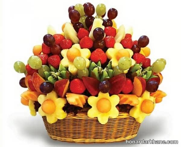 تزیین میوه های جشن تولد