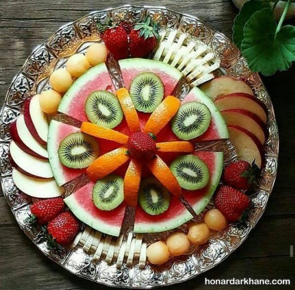 تزیین سینی میوه برای تولد