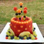 تزیین میوه تولد