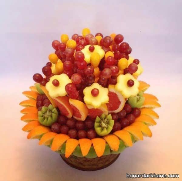 تزیین میوه برای تولد بزرگسالان