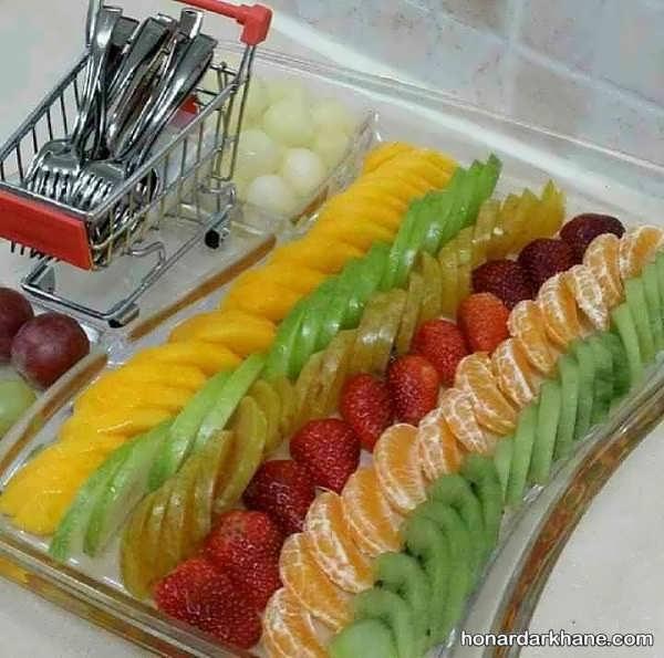تزیین میوه در دیس