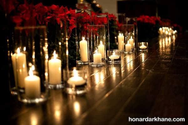 تزیین میز ساده با شمع