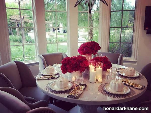 تزیین شیک میز
