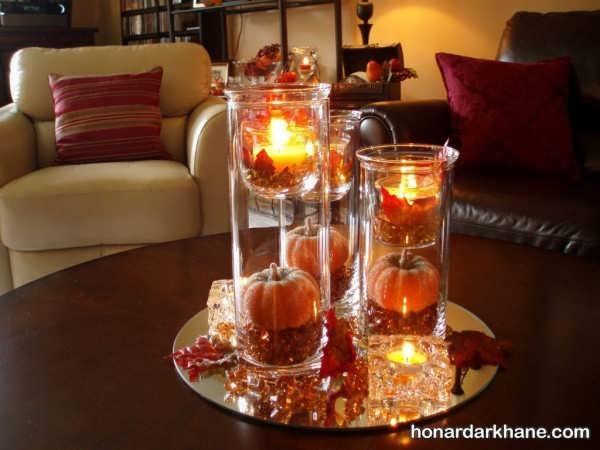 دیزاین میز با شمع