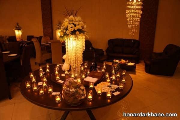 تزیین عاشقانه میز با شمع