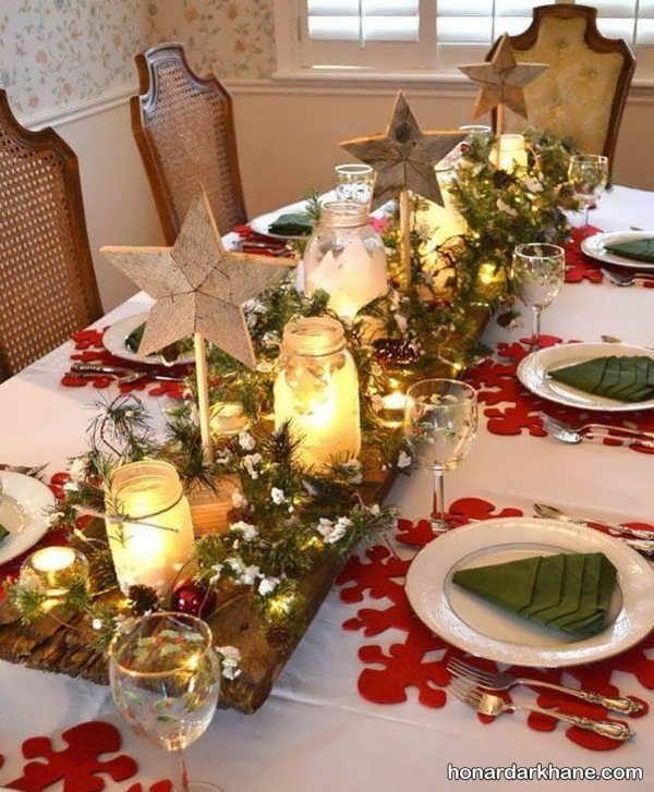 شمع آرایی میز ناهار خوری