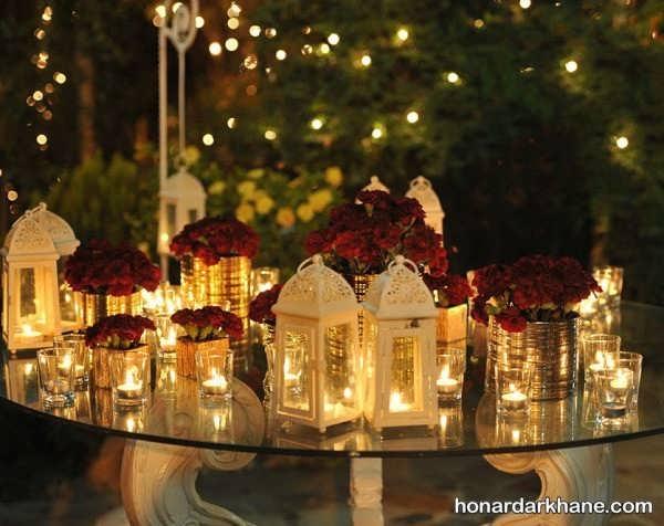 شمع آرایی روی میز