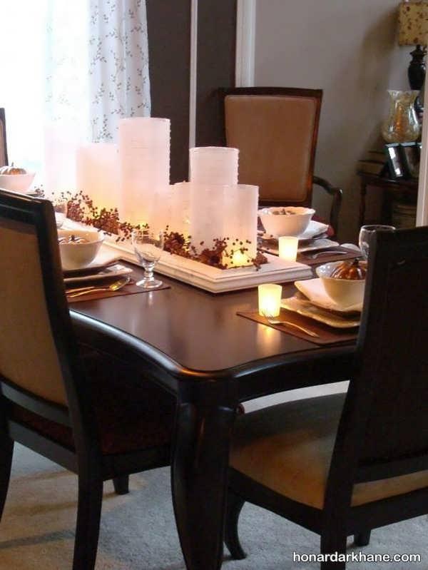 میز آرایی جدید و شیک با شمع
