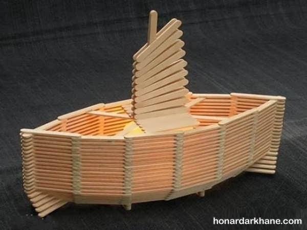 کاردستی با چوب ساده