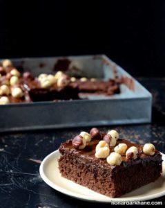 آموزش پخت کیک خیس شکلاتی