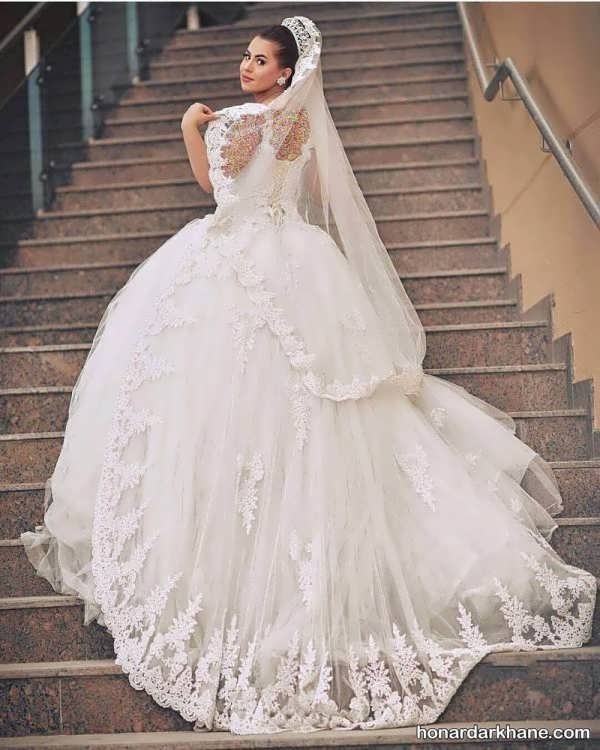 مدل لباس عروس توری جدید