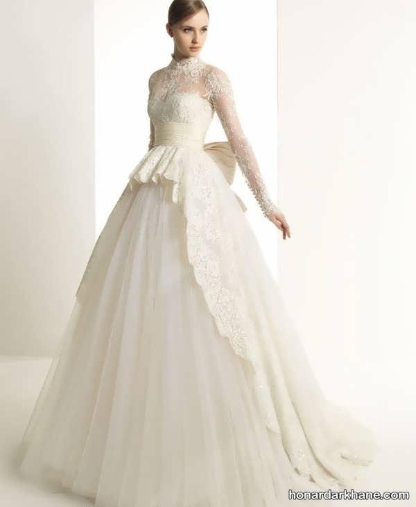 لباس عروس پوشیده جدید