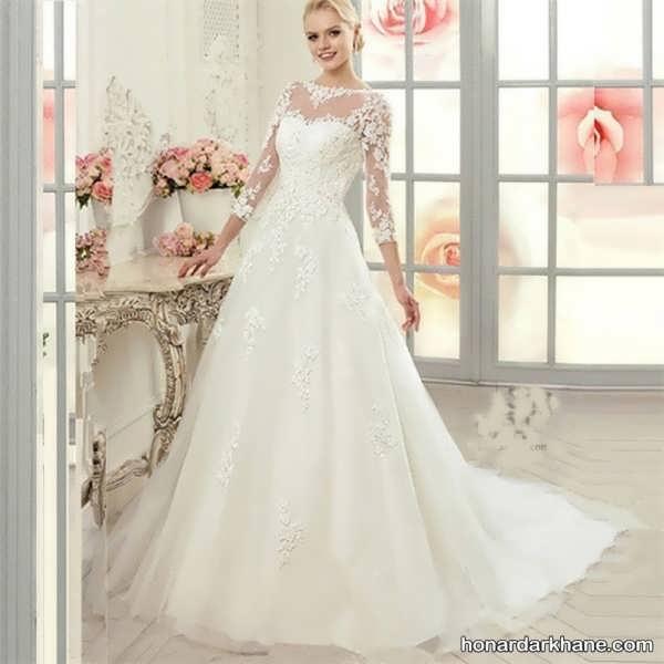 مدل لباس عروس گیپور جدید