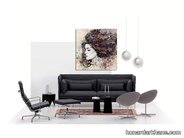 نقاشی مدرن رنگ روغن