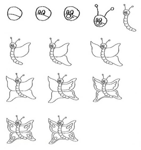 آموزش نقاشی پروانه