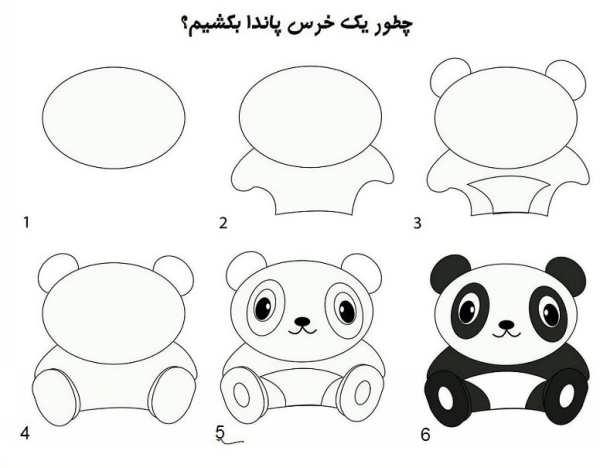 آموزش نقاشی خرس