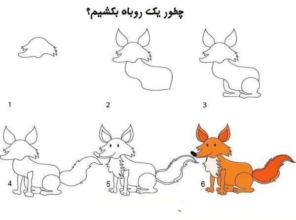 آموزش نقاشی حیوانات به بچه ها