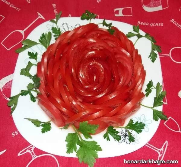 تزیینات گوجه فرنگی