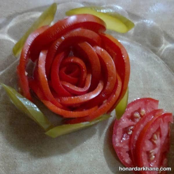 تزیین زیبای گوجه فرنگی