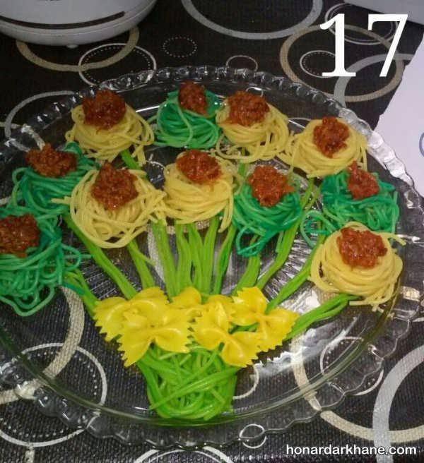 تزیین ماکارونی برای جشن تولد