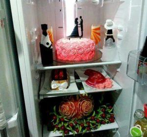 تزیین یخچال و فریزر عروس