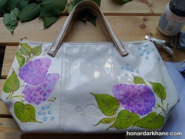 مدل نقاشی روی کیف چرمی