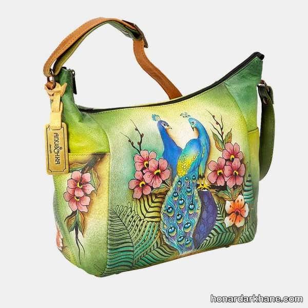 تزیین کیف چرمی با نقاشی