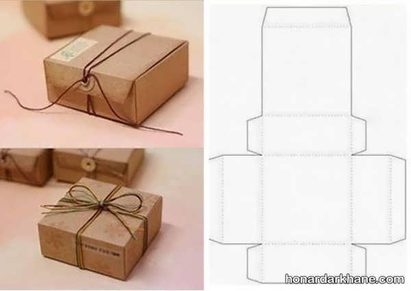آموزش ساخت جعبه کادو با الگو