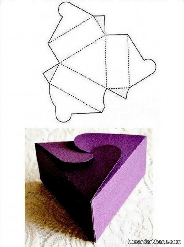 الگوی ساخت جعبه کادو
