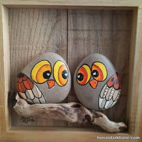 ساخت تابلو تزیینی با سنگ
