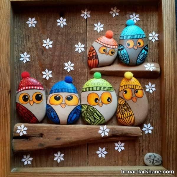 کاردستی های خلاقانه با سنگ