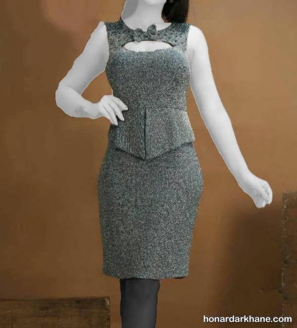 مدل لباس مجلسی دخترانه لمه