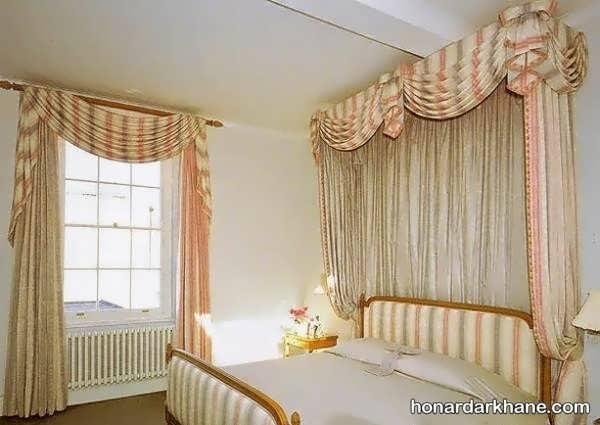 مدل پرده اتاق خواب عروس
