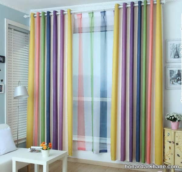 پرده رنگی برای اتاق خواب